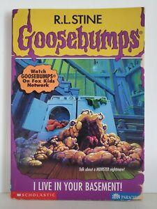 Goosebumps #61: I Live In Your Basement (*RARE* OG Printing, 1997) R.L. Stine