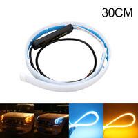 2X 30cm flexibler Auto LED Streifen Tube DRL Tagfahrlicht Blinker Lampen Leuchte