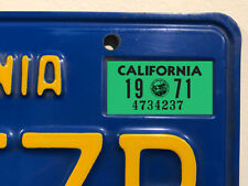 California License Plate Sticker, 1971, YOM, CA, DMV, Registration