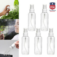 5Pcs 100ml Travel Transparent Plastic Perfume Atomizer Empty Misty Spray Bottle