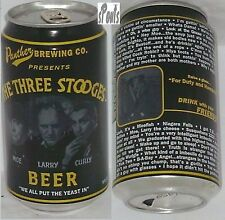 THREE STOOGES BEER CAN LARRY,MOE,CURLY PANTHER BREW UTICA,NEW YORK TV MOVIE STAR