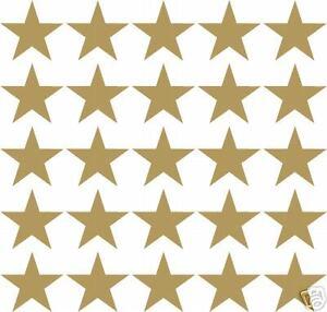 25 x GOLD STARS CAR VINYL STICKERS DECALS LOGOS