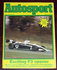 Autosport 11/3/82* SILVERSTONE F3 - ROHRL INTERVIEW - TWR JAGUAR XJS - LOLA T70