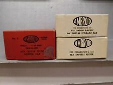 Three Ambroid Ho Scale Craftsman Type Kits Model #'s 3, H5, & Rea Express Reefer