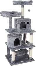 "57"" Cat Tree Condo Pet Bed Activity Tower Play Together with Perches Hammock"