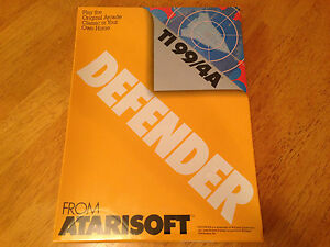 DEFENDER  for Texas Instruments TI 99/4a Computer System - NEW CASE FRESH -NIB