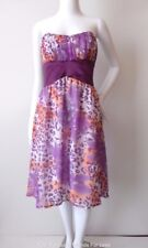 OUT WITH EVIE  Strapless Silk Empire Waist  Dress Made In Australia Size 8 US 4