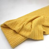 Luxe Angora Cable Soft Jersey - Yellow - Fabric Stretch Knit Dressmaking