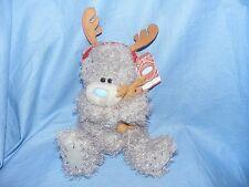 Me to You Bear Holding Reindeer G01W3899 Tatty Teddy Christmas Present Gift