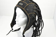 OAKLEY MEDUSA Leather Black Small S Helmet RARE HEAD GEAR