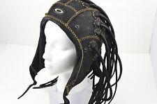 OAKLEY MEDUSA Leather Black Small S Helmet RARE HEAD GEAR