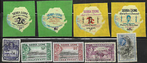 Sierra Leone, 9 different, between #141 and #C34, Issued 1932-1965