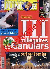 Science et vie junior n°136 01/2001 Canulars Mausolée de l'empereur Qin Requin