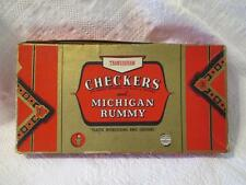 Vintage Transogram Checkers & Michigan Rummy 1209 Eagle Poker Chips