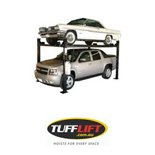 4 Post Car Hoist, Garage Extra High Parking Lift, 3.6 Ton 3600 Kgs TUFFLIFT