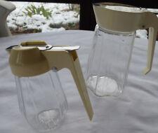 Honigspender Milchkännchen Sahnegiesser Glas 2 Stück Bauhaus Kultdesign alt TOP