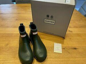 Hunter Balmoral Hybrid Chelsea Boots Dark Olive Size UK 10 New & Boxed  RRP £135