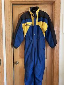 Obermeyer Skiwear Suit Juniors Size 18 Snow Suit Blue, Black, Yellow  Boys/Girls