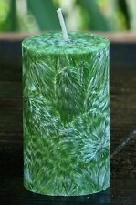 40hr COUNTRY CHRISTMAS Triple Scented GREEN CANDLE Cranberry Cloves Orange Zest