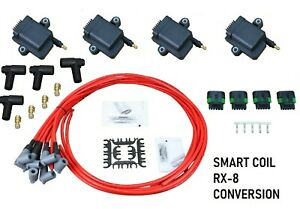 Performance Ignition Coil Conversion Kit Plug Wire Set For 2004-11 Mazda RX-8