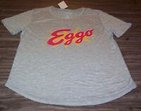 VINTAGE STYLE WOMEN'S TEEN Kelloggs EGGO Waffles T-shirt XL NEW w/ TAG