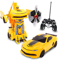 Kids RC Toy Transforming Robot Remote Control Sports Car For Boys 1:22 Scale