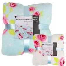 Machine Washable Floral Modern Bed Blankets