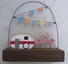 Bunting And Caravan Flamingo Decoration  Seaside  Nautical  gifts FREE POST NEW