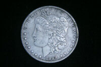 1889 Morgan Silver Dollar $ , AU About Uncirculated , US Coin