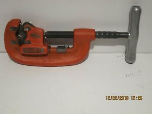 RIDGID 32870(42A)Four Wheel Pipe Cutter, Stainless Steel-GREAT CONDITION F/SHIP