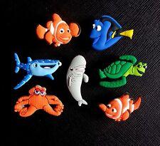 7 x Finding Dory Nemo Croc Shoe Charms Crocs Jibbitz Wristbands Shoes Dori