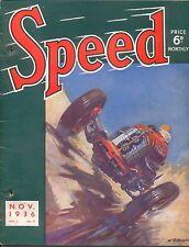 Speed Magazine 11/36 Olympia Donington GP Kohlrausch MG Jean Batten aviator +