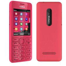 Nokia 206 originale GSM tastiera ebraica telefono sbloccato MP3 Dual SIM Rosso