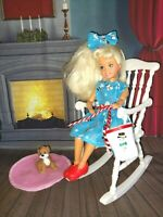 OOAK DOLL CLOTHES MADE FOR STACIE DOLL CHRISTMAS DRESS OUTFIT SET