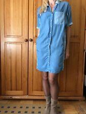Reserved sukienka jeansowa 34 przed kolano modna koszulowa