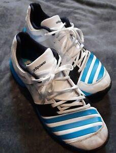 Adidas Adipower Mens UK10 -  SL22 Spiked Cricket Shoes - Blue & White