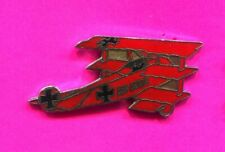 RED BARON WWI Fokker DR1 Tri Plane Pin Military Airplane badge pin