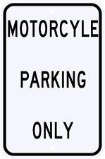 3M Reflective Motorcycle Parking Only Street Sign Dot Municipal Grade 12 x 18