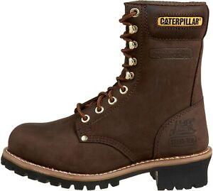 Caterpillar Mens Logger Steel Toe Waterproof Boots Size 7 Chocolate