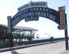 METAL REFRIGERATOR MAGNET Santa Monica Yacht Harbor California Travel