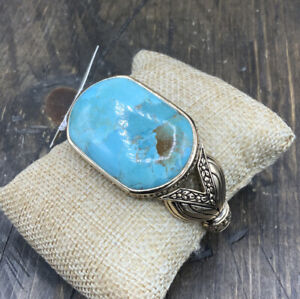 Barse Bouquet Cuff Bracelet- Turquoise & Bronze- New With Tags