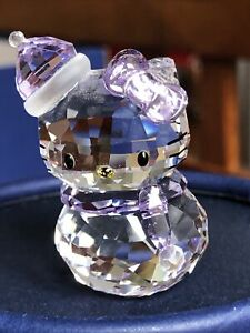 Swarovski crystal figurine Sanrio Hello Kitty Snowman 1142949 Mint condition.