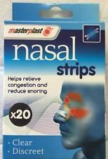 20 x Plasters Clear & Discreet Masterplast Nose Plasters  Cold Flu Snoring