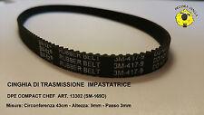 Cinghia/Cinghiolo di trasmissione per Impastatrice DPE COMPACT CHEF Art. 13302