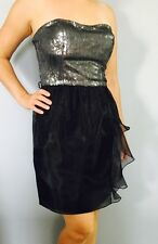New Aidan Mattox 6  Black Party Cocktail Dress Gown Evening Prom Formal Wedding