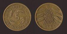 GERMANIA GERMANY 5 REICHSPFENNIG 1925 A