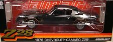 GREENLIGHT DIECAST METAL 1:18 SCALE BLACK 1978 CHEVROLET Z/28 CAMARO