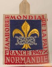 1947 World Jamboree Rare Delegate Patch Normandie Sub-camp