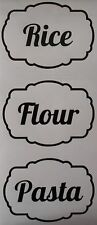 Rice, Flour, Pasta Kitchen Jar Canister Labels Stickers