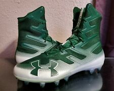 New Men's Size 13 Under Armour Highlight Green White Football Cleat 3000177-302